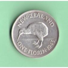 Новая Зеландия 1флорин 1943г.