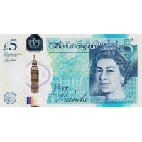 Англия 5 фунтов 2016 г.