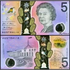 Австралия 5 долларов 2016г.