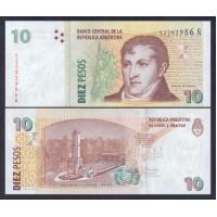 Аргентина 10 песо 2014г.