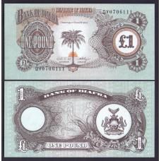 Биафра  1фунт  1968г.