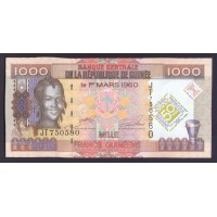 Гвинея 1000 франков 2010г.