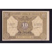 Французский Индокитай 10 центов 1942г.