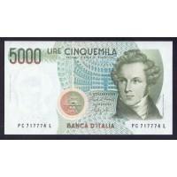 Италия 5000 лир 1985г.