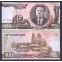 Северная Корея 100 вон 1992г.