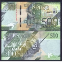 Кения  500 шиллингов 2019г.