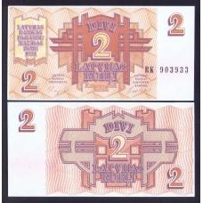 Латвия 2 рубля 1992г.