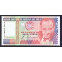 Перу 10000 инти 1988г.