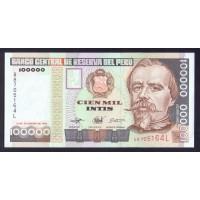 Перу 100000 инти 1989г.