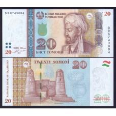 Таджикистан 20 сомани 2018г.