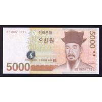 Южная Корея 5000 вон 2006г.