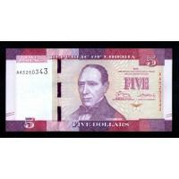 Либерия 5 долларов 2016 г.