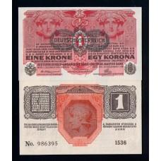 Австрия 1 крона 1919 г.