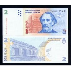 Аргентина 2 песо 2003 г.
