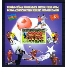 Азербайджан 1 блок. 2002 г. (футбол)