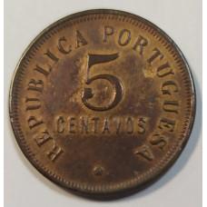 Ангола 5 сентаво 1923г.