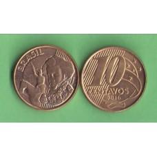 Бразилия 10 центаво  2011г.