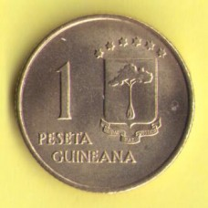 Гвинея Экваториальная 1 песета 1969г.