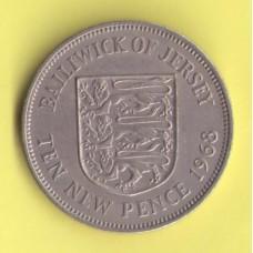 Джерси 10 новых пенсов 1968г.