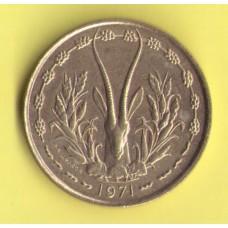 Западная Африка  25 франков 1971г.