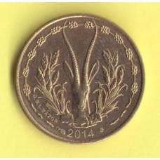 Западная Африка 5 франков 2014г.