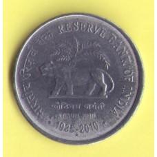 Индия 1 рупия 2010г.