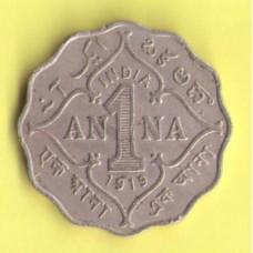 Индия британская 1 анна 1919г.