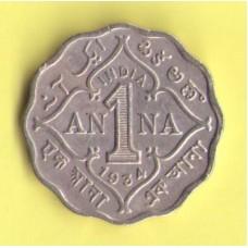 Индия британская 1 анна 1934г.
