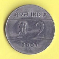 Индия 2 рупии 2002г.