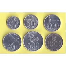 Индонезия 6 монет ( 1992 - 2010г.г.)