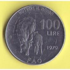 Италия 100 лир 1979г. ФАО