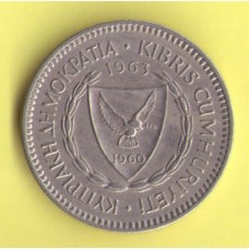 Кипр 50 милс  1963г.