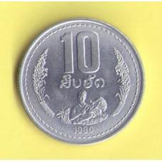 Лаос 10 атт   1980г.