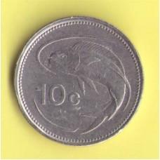 Мальта 10 центов 1986г.