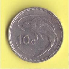 Мальта 10 центов 1995г.