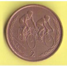 Остров Мэн 2 пенса 1999г.