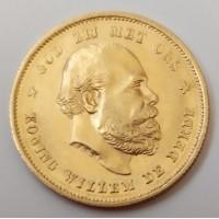 Нидерланды 10 Гульденов 1876 г.  ( 6,72гр.)