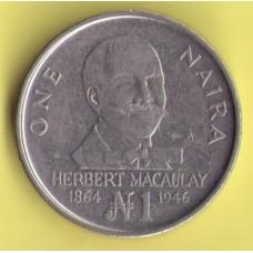Нигерия 1 найра 1991г.