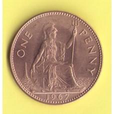 Великобритания 1 пенни 1967г.