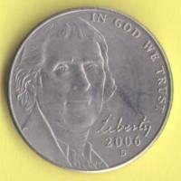 США 5 центов 2006г.