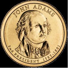 США  Джон Адамс 1$ 2007 г. (№2)