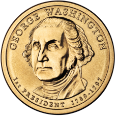 CША  Вашингтон 1$ 2007 г. (№1)