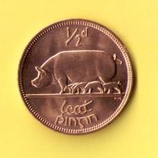 Монета Ирландия  1/2 пенни 1967 г.